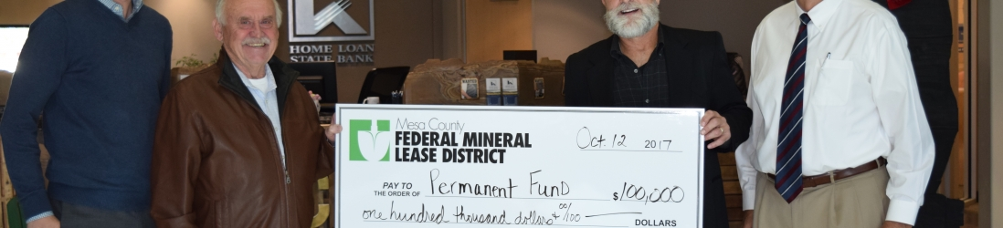 Mesa County Federal Mineral Lease District First in Colorado to Establish Permanent Fund